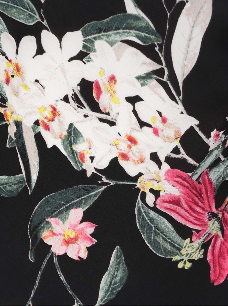 Rochie neagra TALLY WEiJL cu imprimeu floral