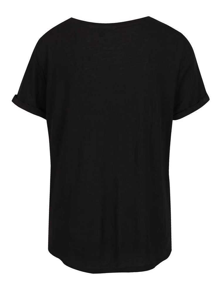 Tricou negru TALLY WEiJL cu print