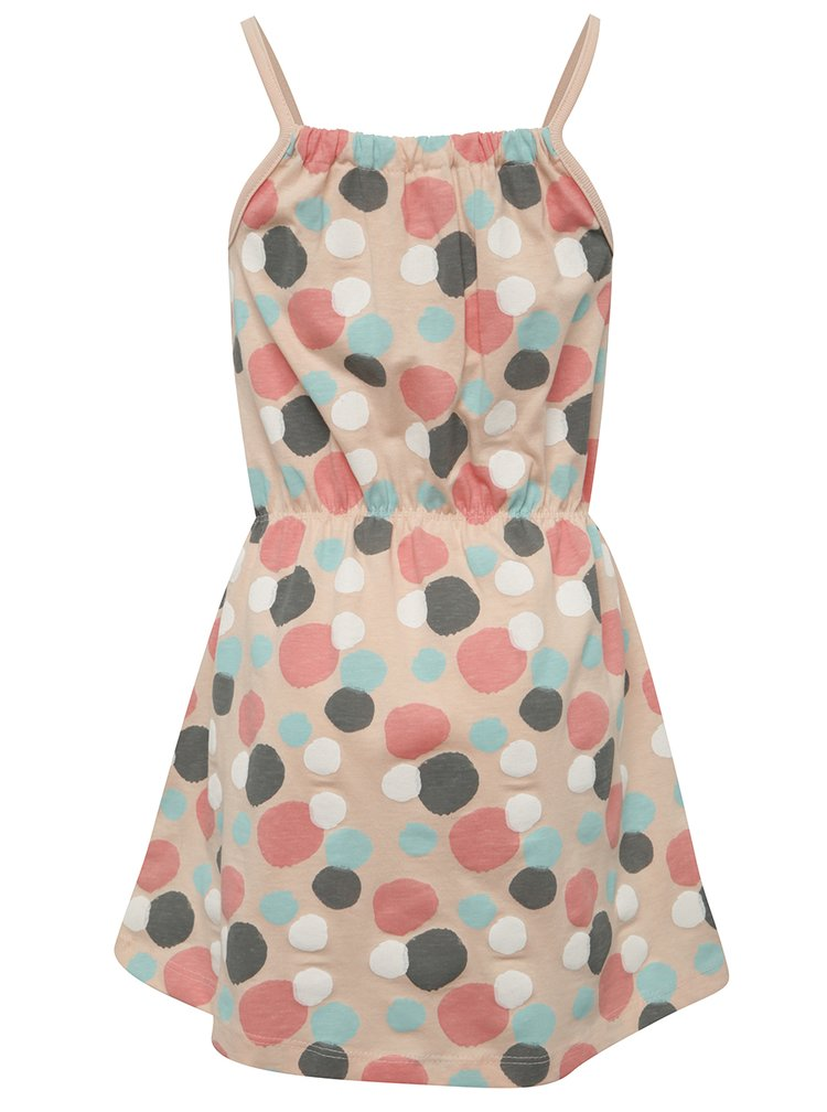Růžové holčičí šaty s puntíky name it Viggakira