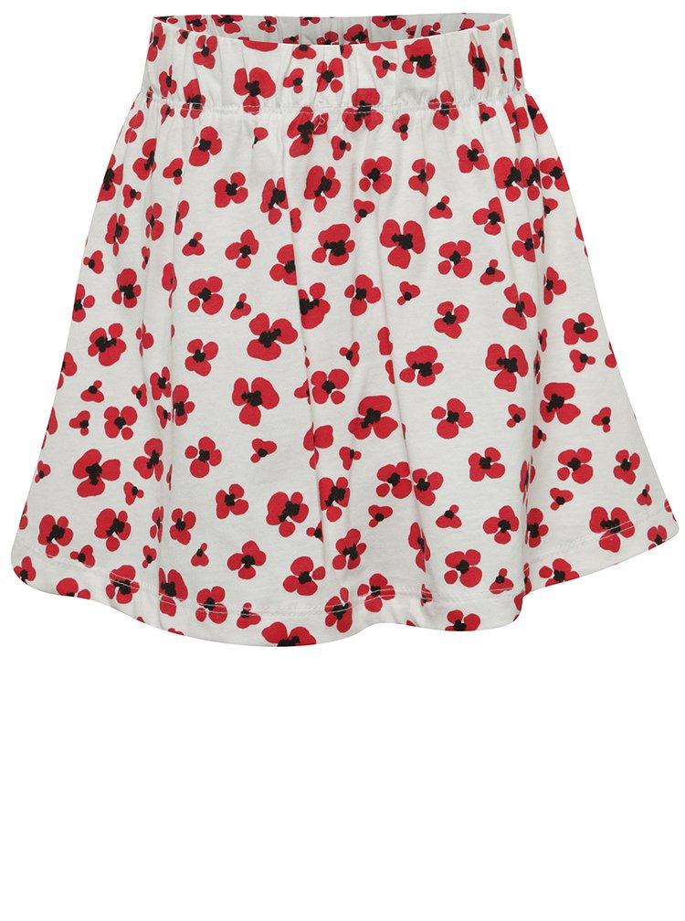 Bílá holčičí květovaná sukněi name it Viggakira