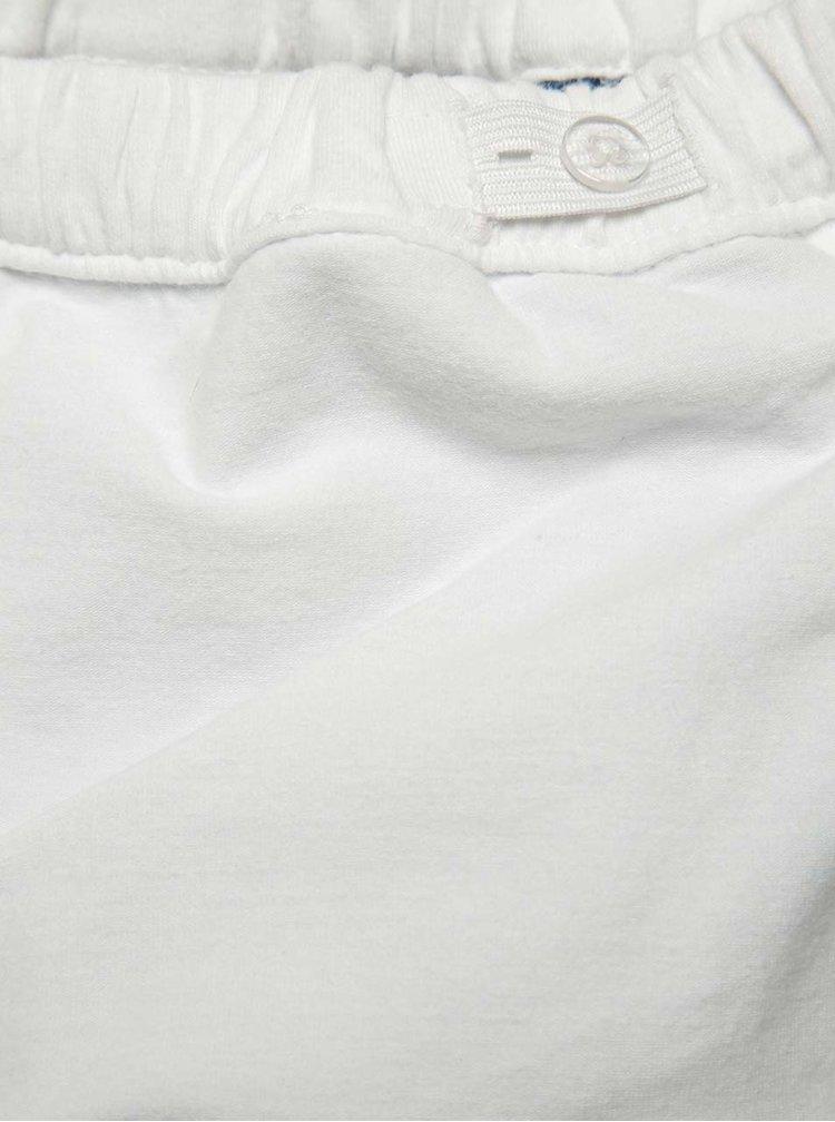 Modro-bílé holčičí kraťasy s tropickým potiskem name it Jamesh