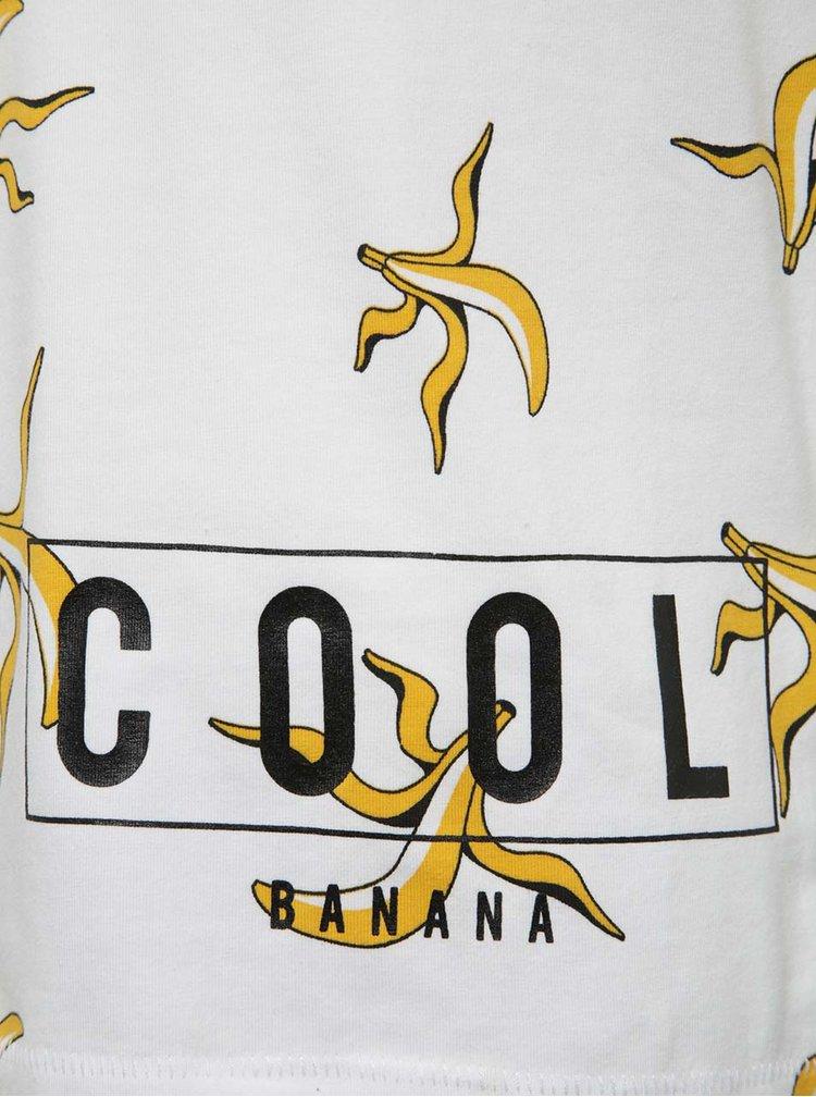 Bílé klučičí triko s potiskem banánů name it Jakob