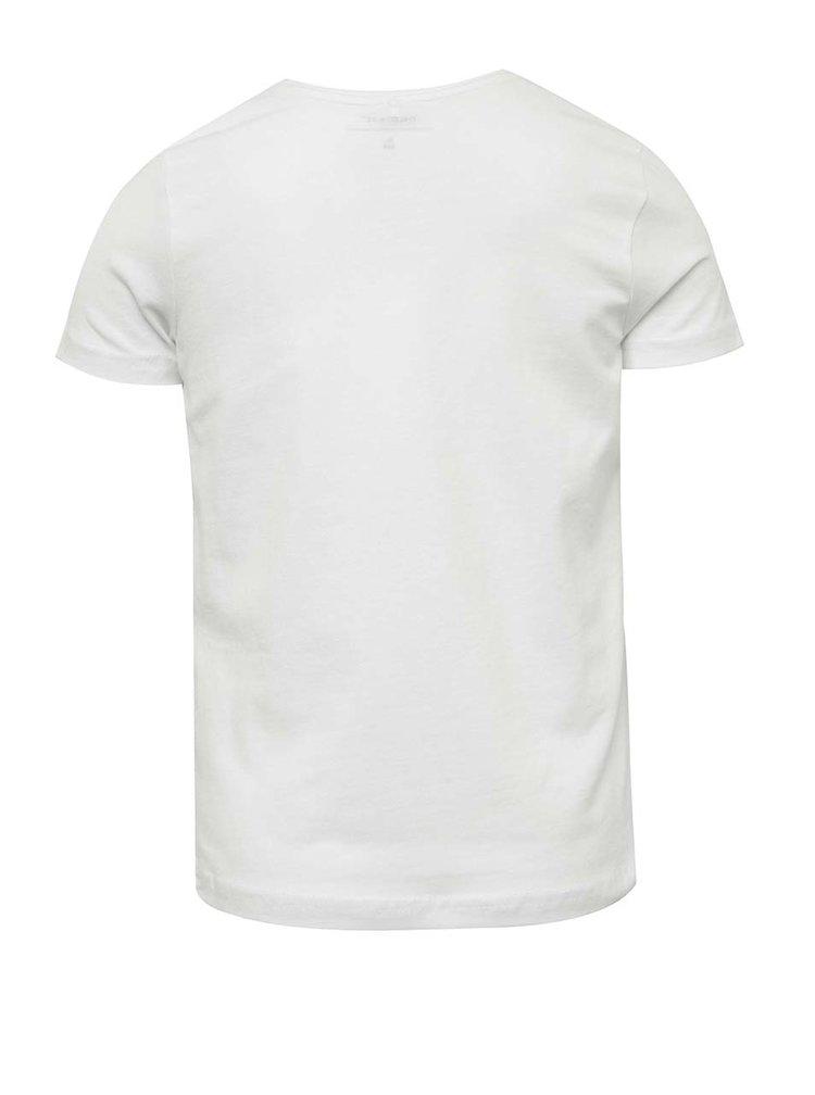 Bílé holčičí tričko s potiskem name it Jip