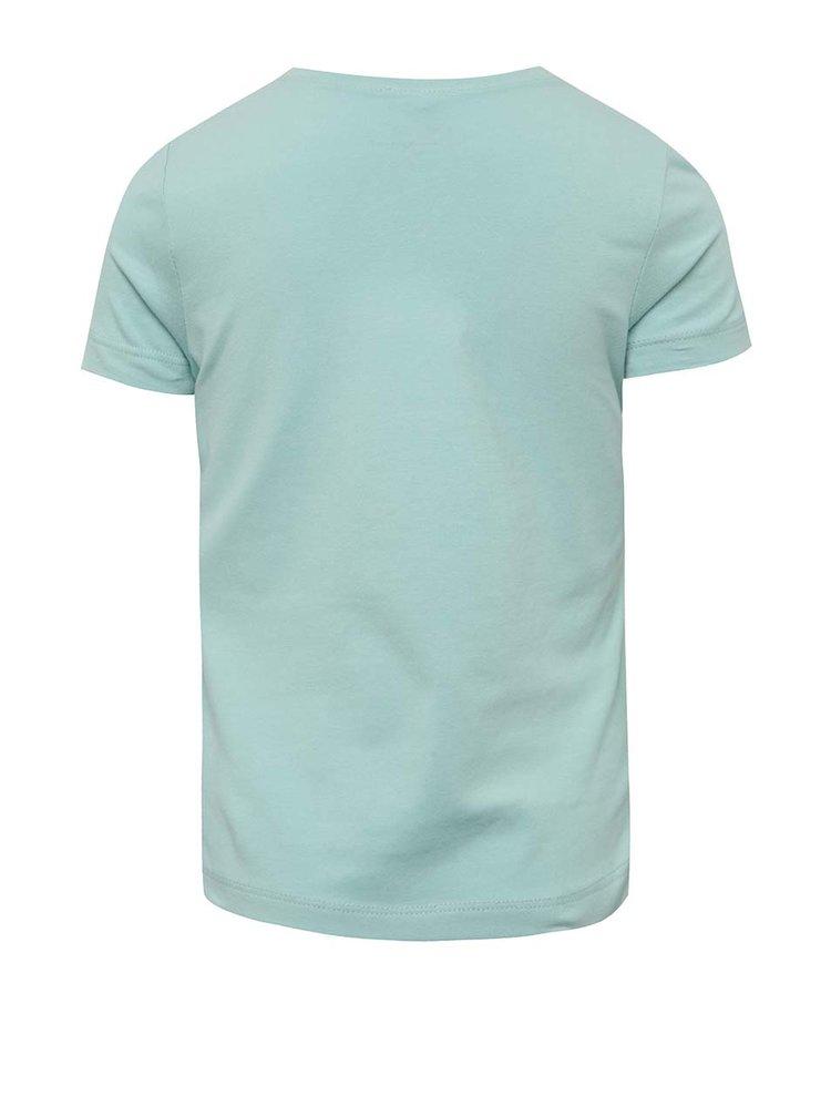 Modré holčičí tričko s potiskem name it Jufe