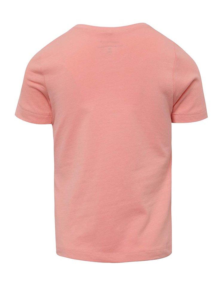 Růžové holčičí tričko s potiskem name it Jufe