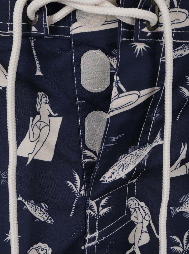 Tmavě modré vzorované pánské plavky O'Neill