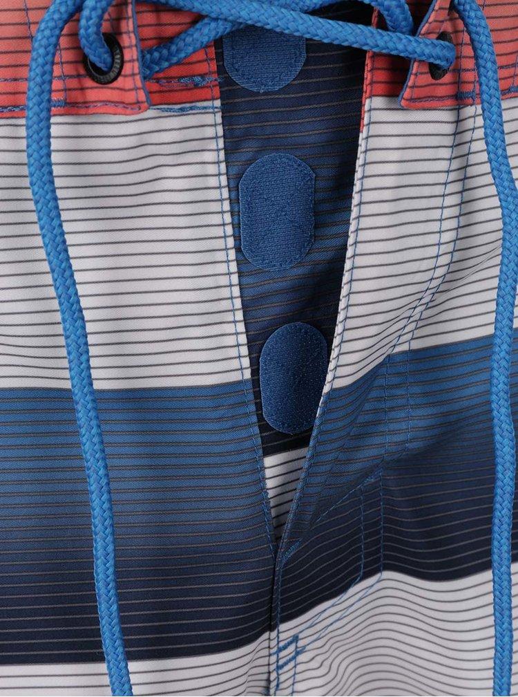 Modro-krémové pruhované pánské plavky O'Neill Santa