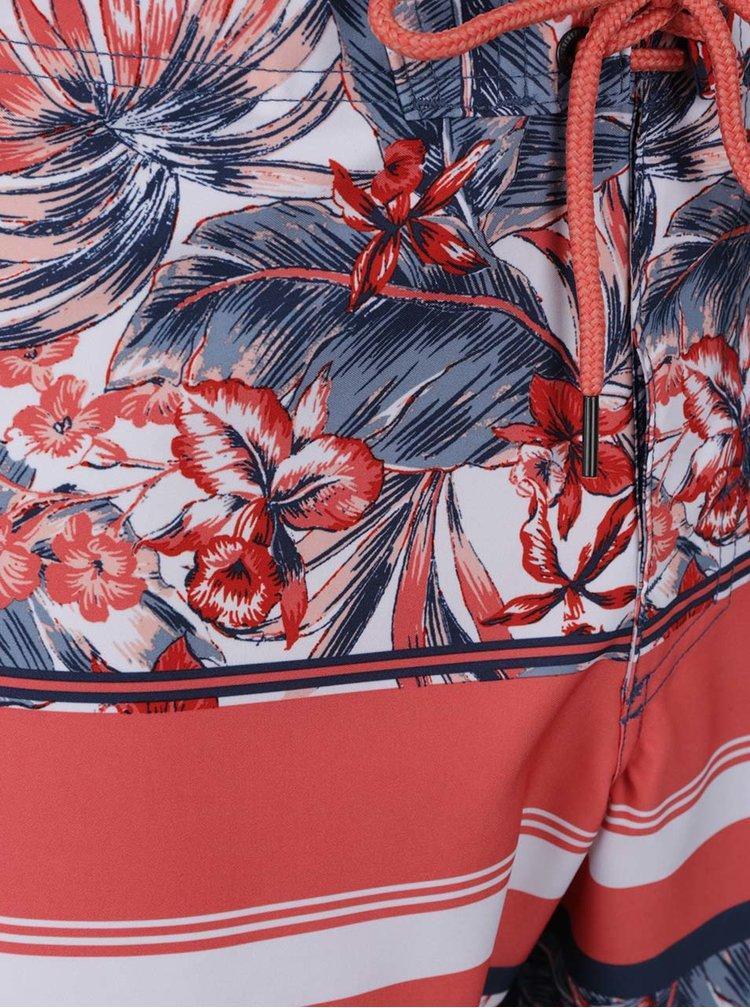 Modro-červené vzorované pánské plavky O'Neill