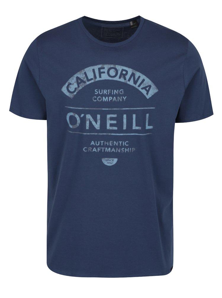 Modré pánské triko s krátkým rukávem a potiskem O'Neill Fusion