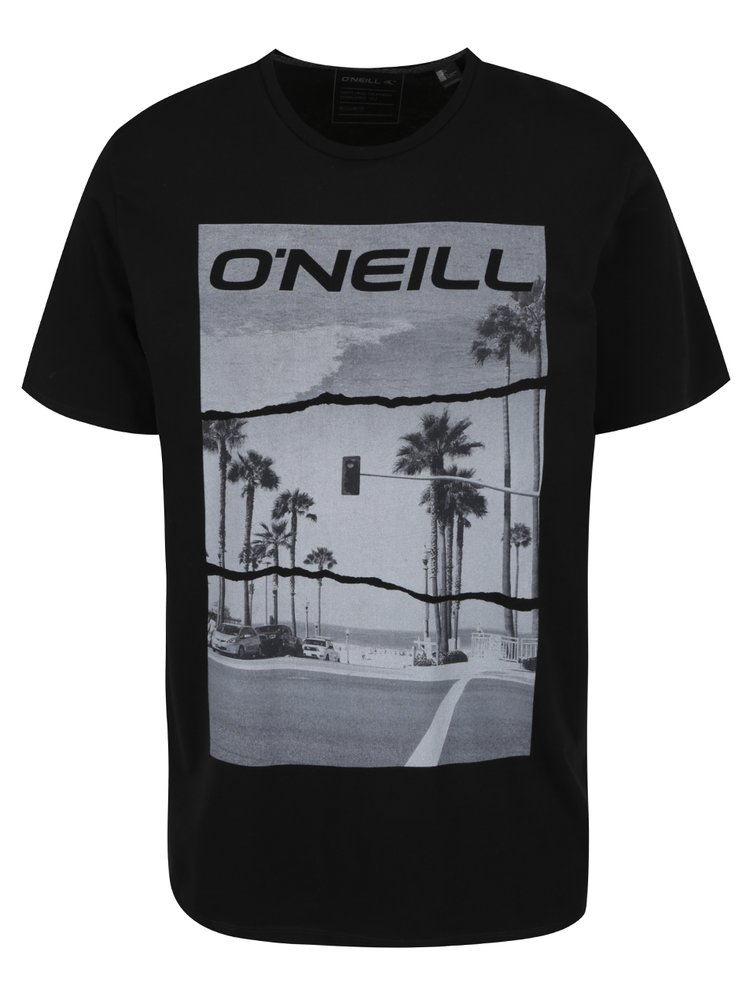 Černé pánské triko s krátkým rukávem O'Neill Cali