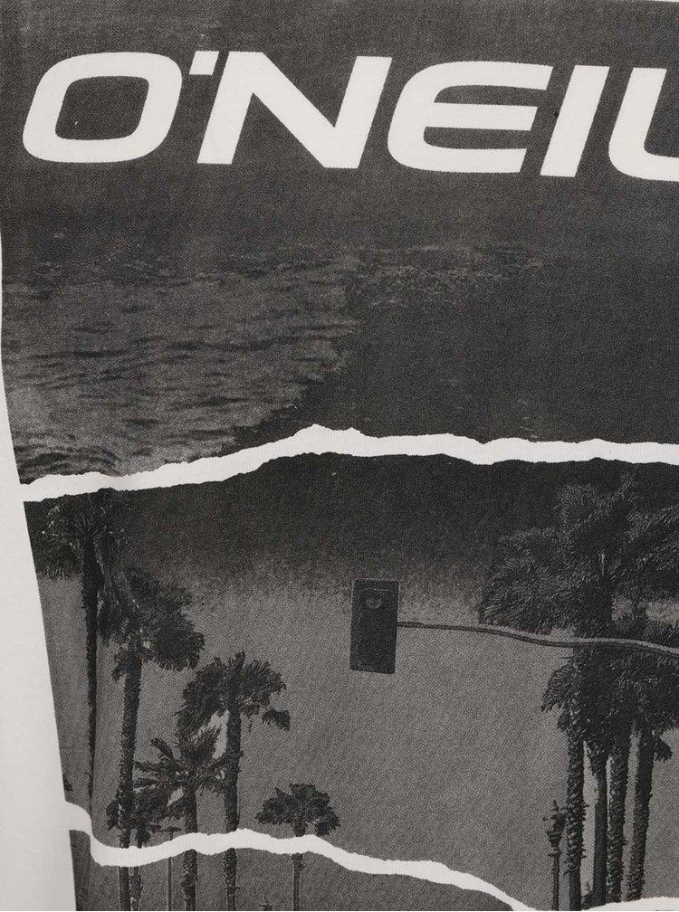 Tricou alb fildes O'Neill cu imprimeu