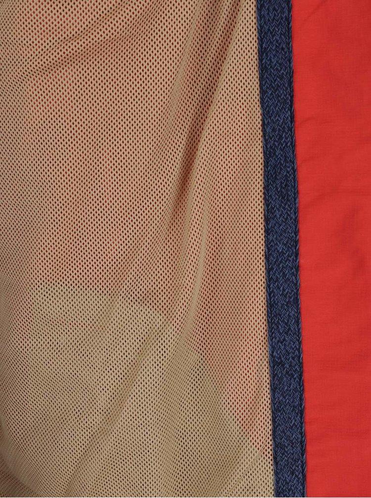 Modro-červená pánská lehká bunda s kapucí O'Neill
