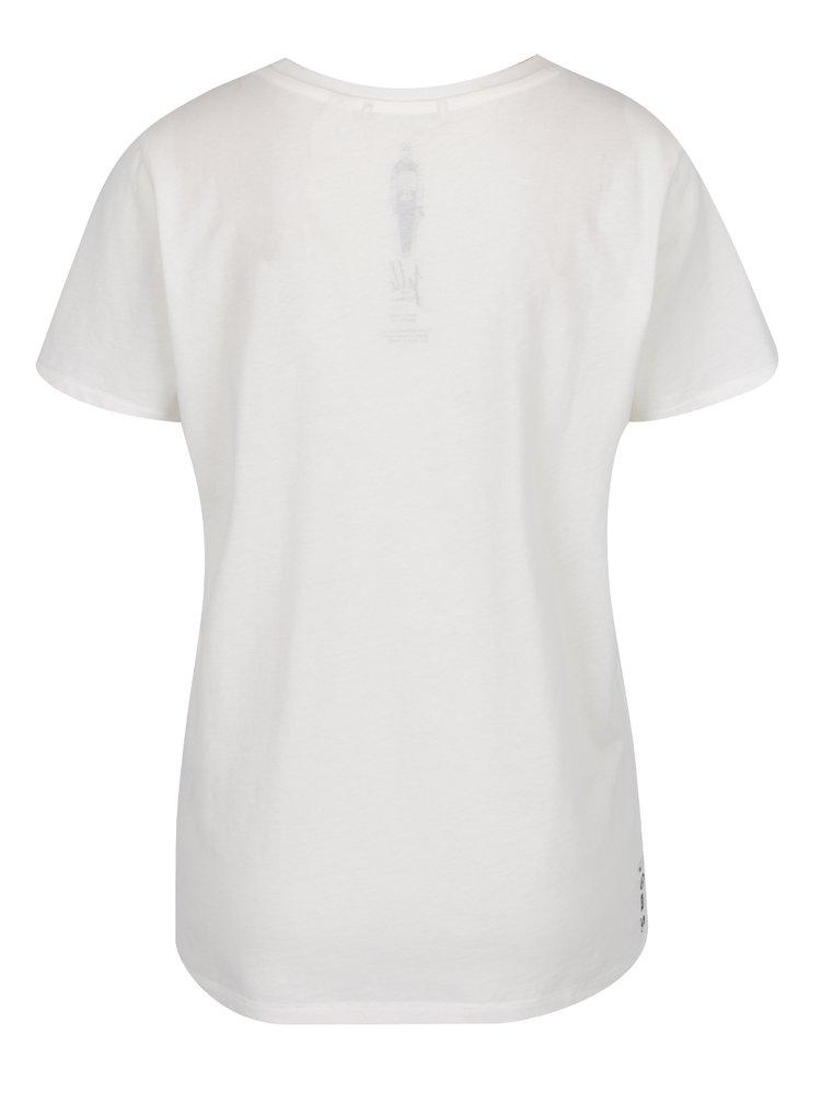 Bílé dámské tričko s potiskem O'Neill