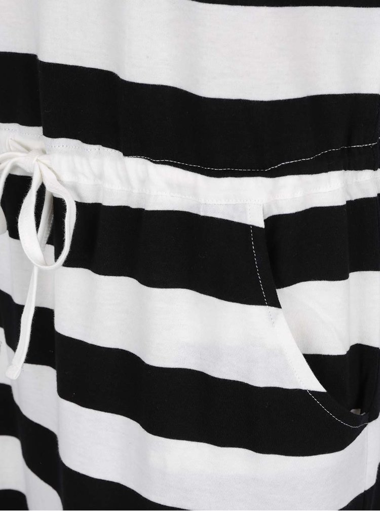 Rochie alb& negru ONLY May cu model în dungi