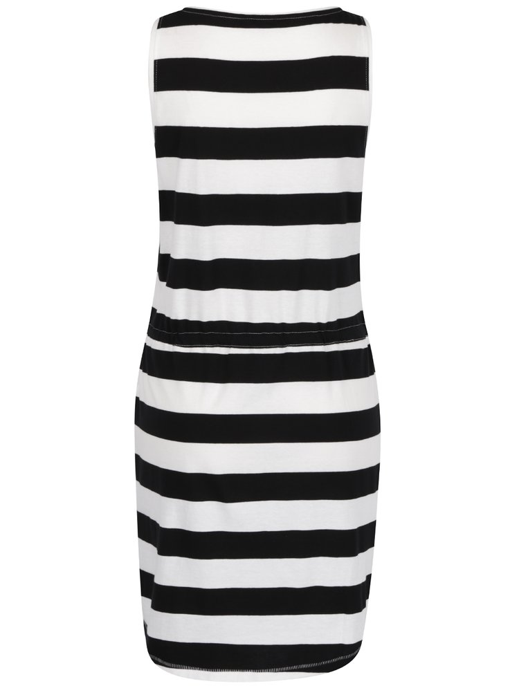 Černo-bílé pruhované šaty s kapsami ONLY May