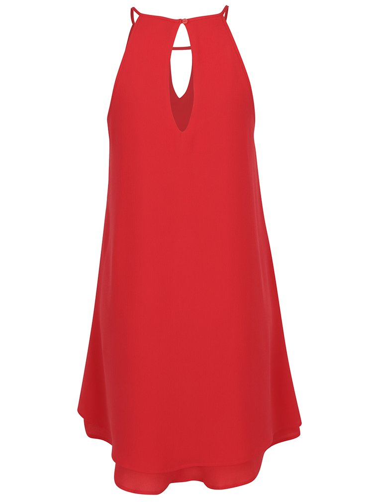 Červené šaty na ramínka ONLY Mariana