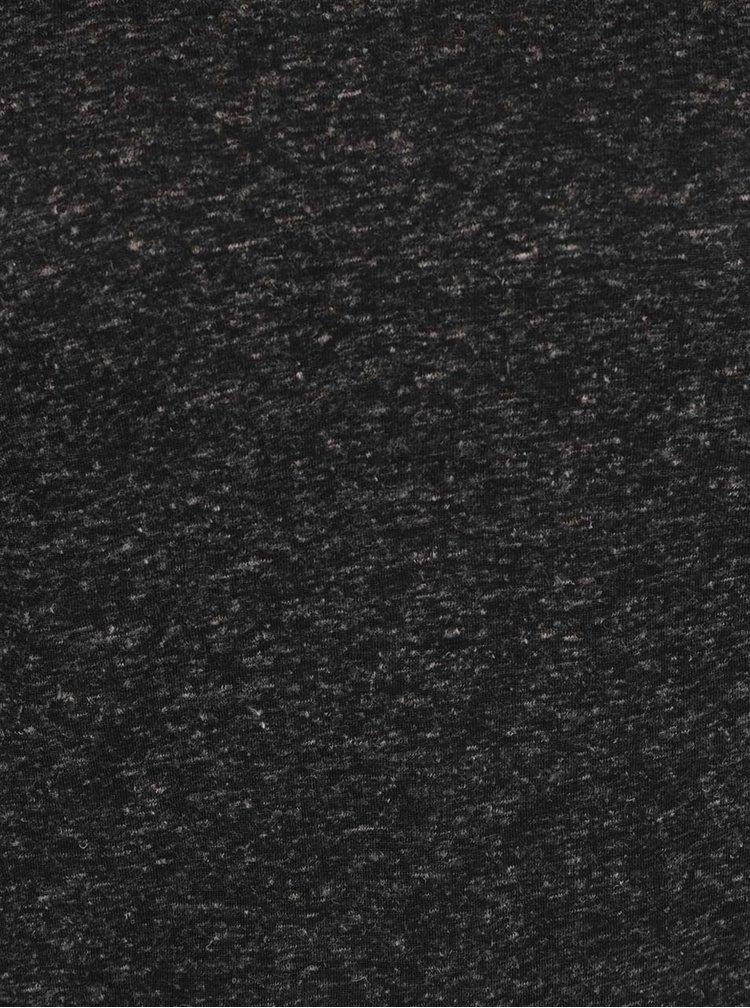 Tricou negru melanj VERO MODA Lua cu decolteu rotund