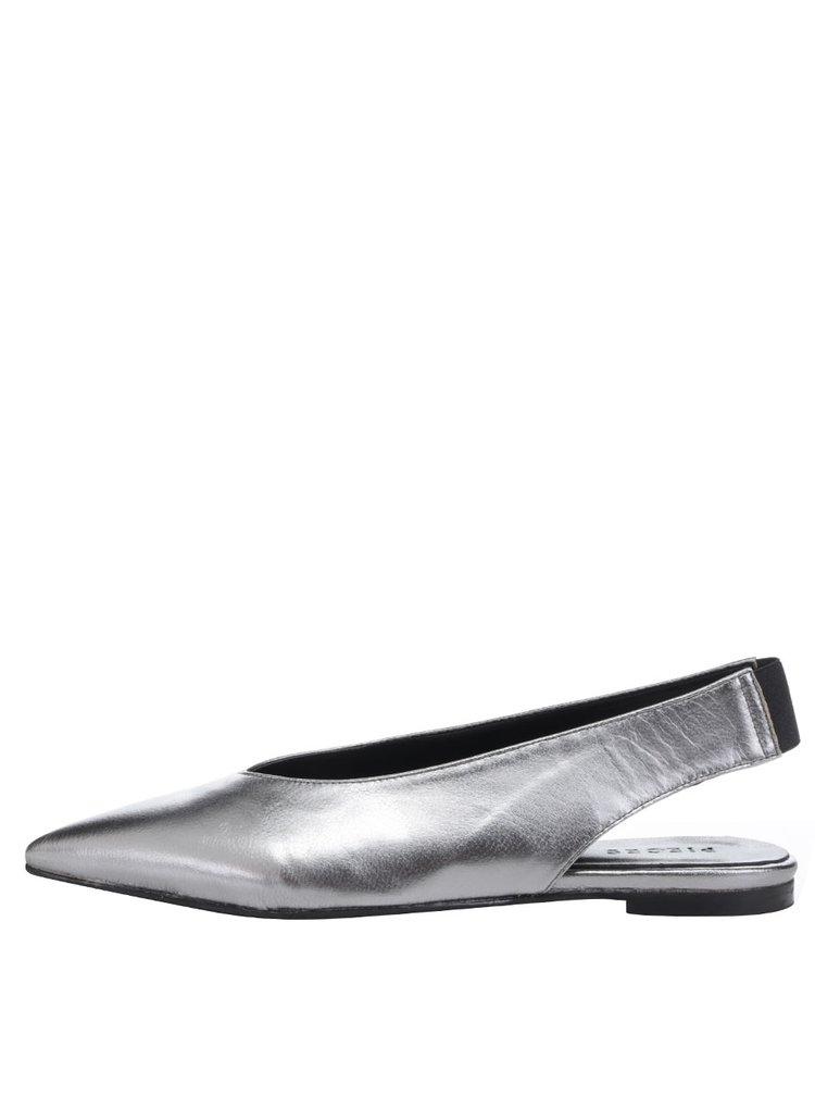 Baleríny s otevřenou patou ve stříbrné barvě Pieces Nashira