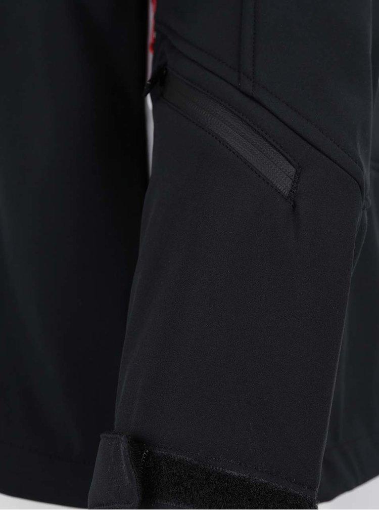 Černá pánská voděodolná softshellová bunda MEATFLY
