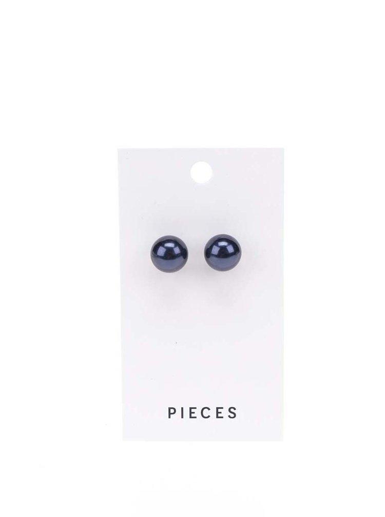 Tmavě modré náušnice Pieces Hogan