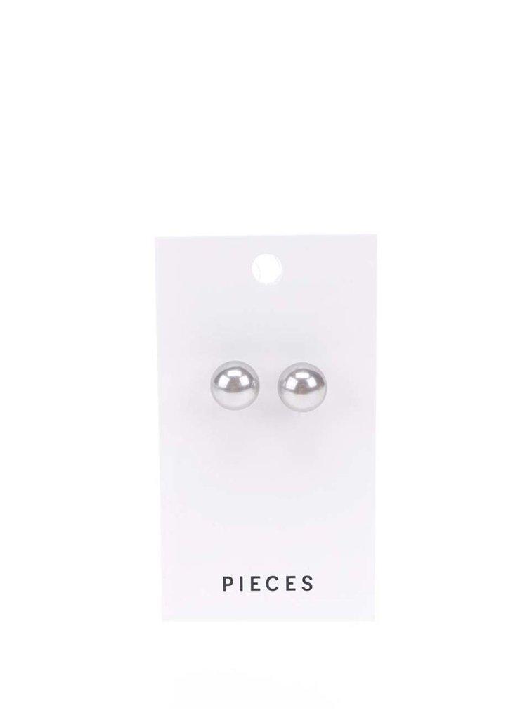 Náušnice ve stříbrné barvě Pieces Hogan