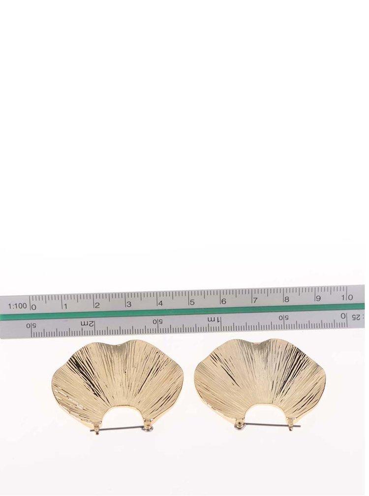 Cercei aurii Pieces Emmi în formă de scoică