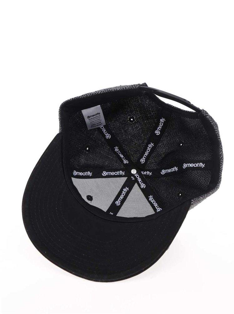 Șapcă gri MEATFLY Exchange cu model și aplicație