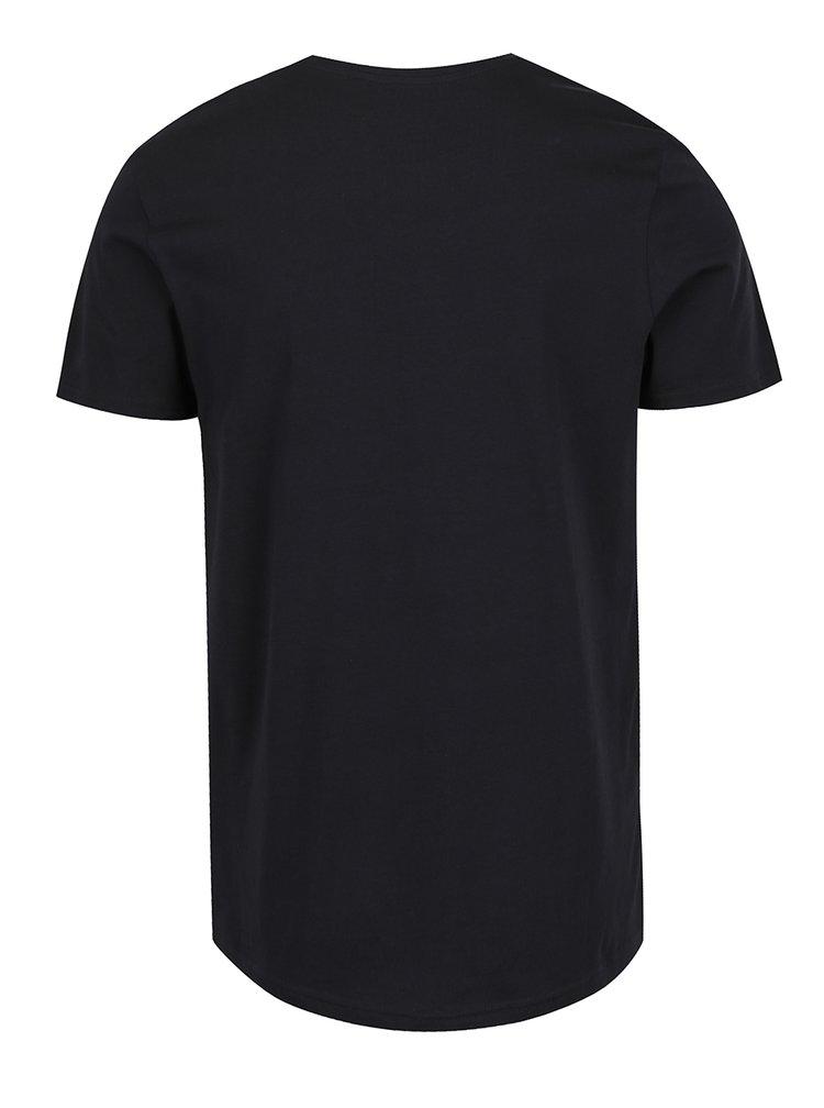Tricou negru Jack & Jones Riot cu print