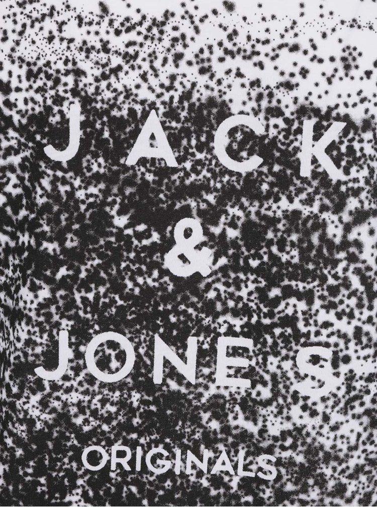 Bílé triko s černým potiskem Jack & Jones Venice