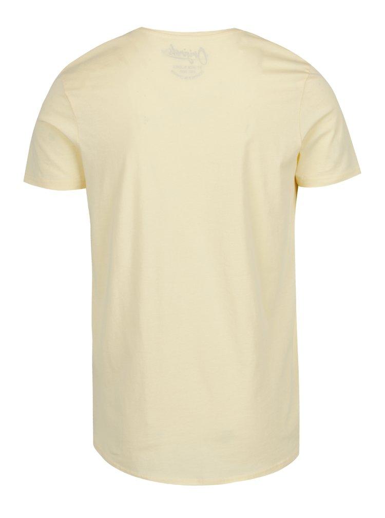 Žluté triko s potiskem Jack & Jones Riot