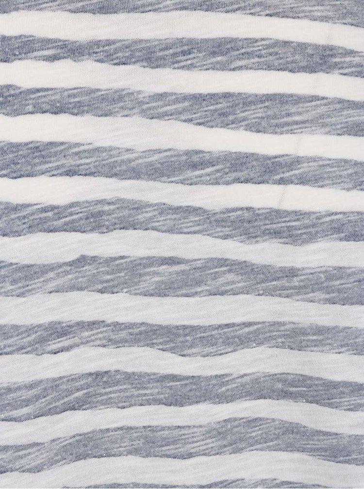 Tricou alb & bleumarin Jack & Jones Reverse cu model în dungi
