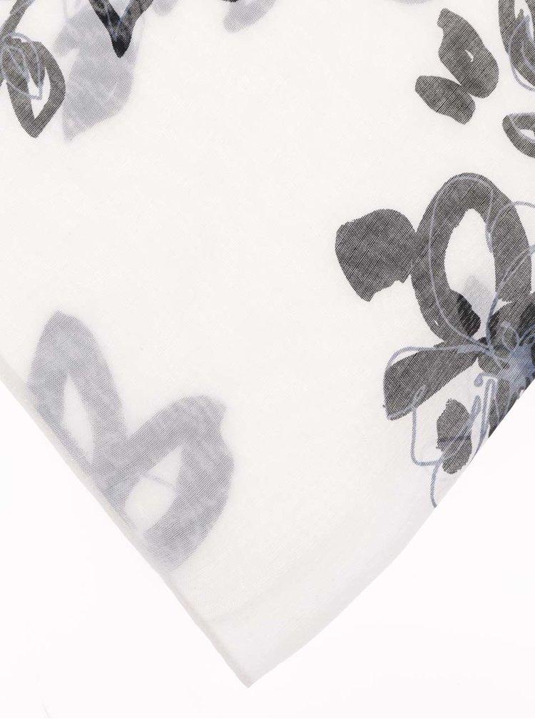 Krémový dutý šátek Pieces Kristen