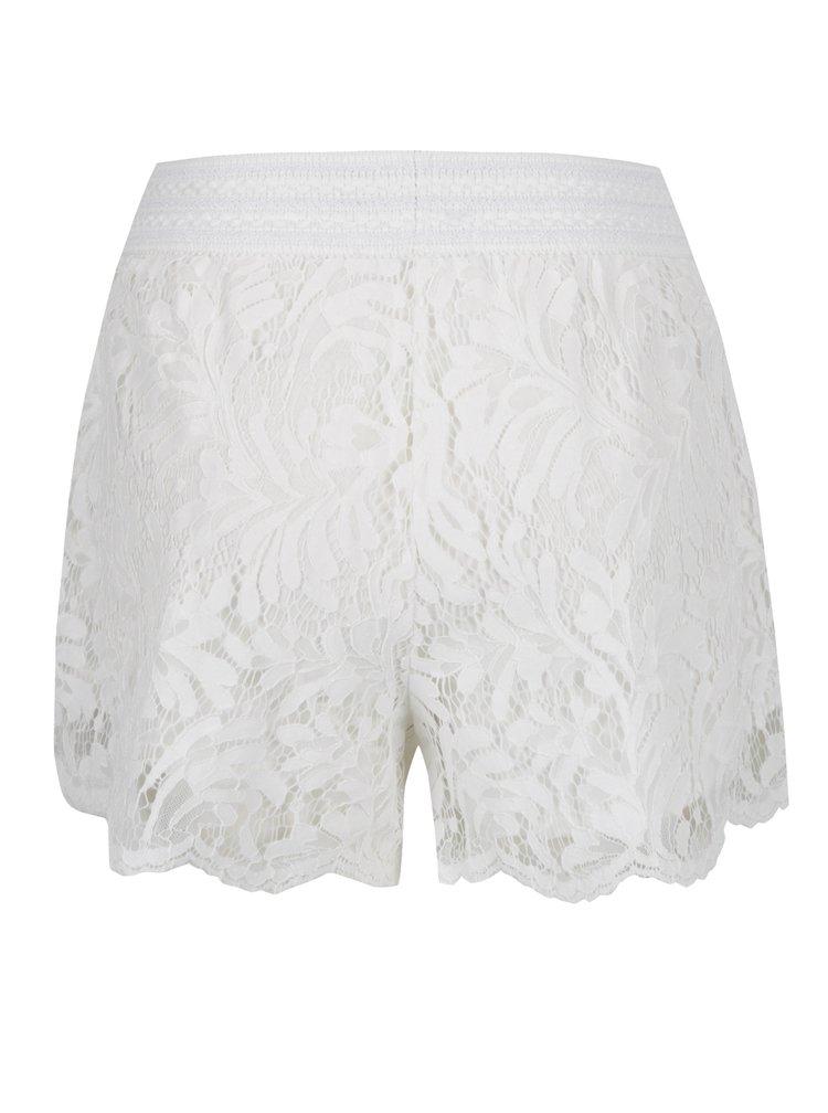 Pantaloni scurti crem VILA Lima din dantela