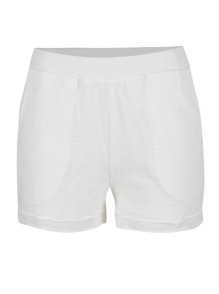 Pantaloni scurți crem VILA Jason cu detalii din dantelă