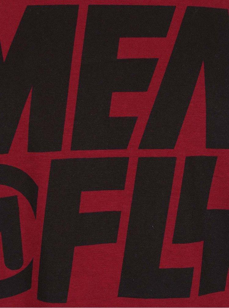 Tricou roșu cu print MEATFLY Shaper pentru bărbați