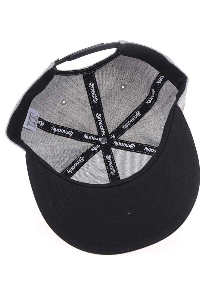 Sapca gri melanj MEATFLY Troop 17 cu logo brodat pentru barbati