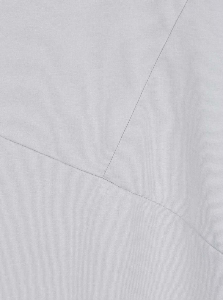 Světle šedé asymetrické triko s detaily Jack & Jones Borja
