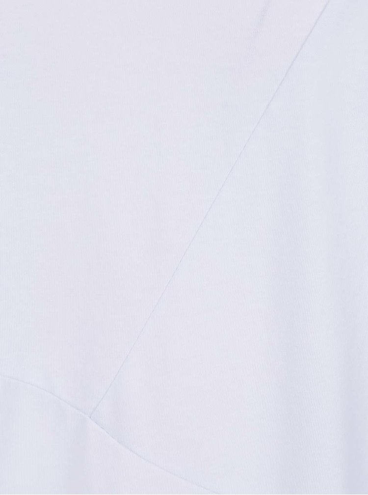 Bílé asymetrické triko s detaily Jack & Jones Borja