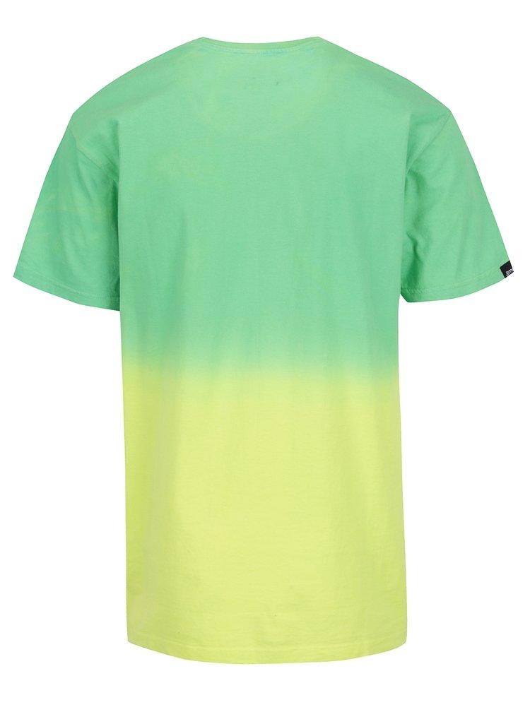 Tricou galben & verde în degrade MEATFLY Spill pentru bărbați