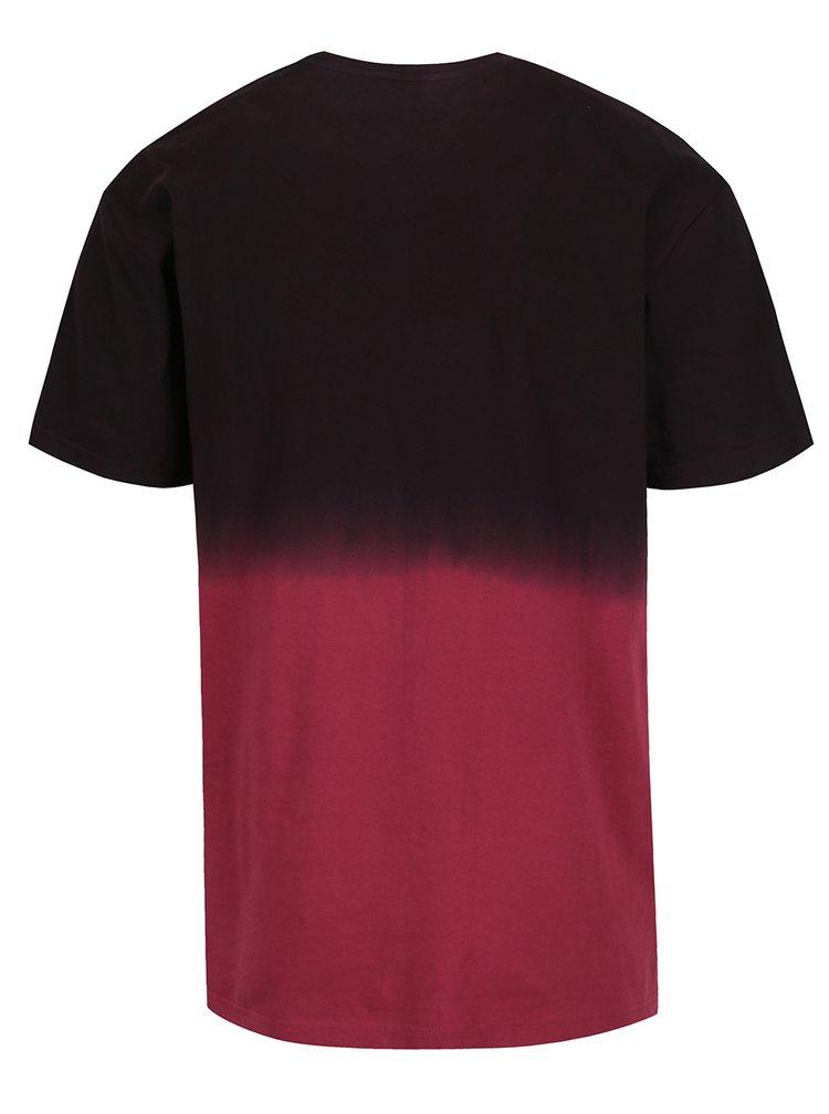Hnědo-vínové pánské triko MEATFLY Spill
