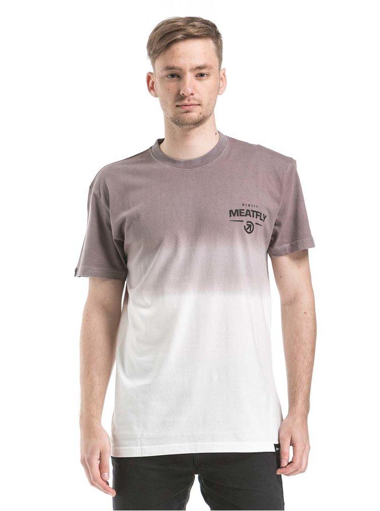 Krémovo-šedé pánské tričko MEATFLY Spill