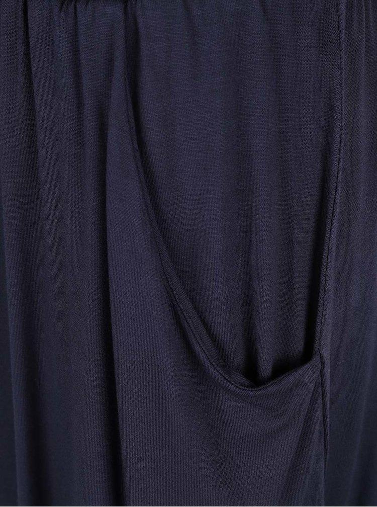 Tmavě modré volné šaty s pružným pasem VILA Foma