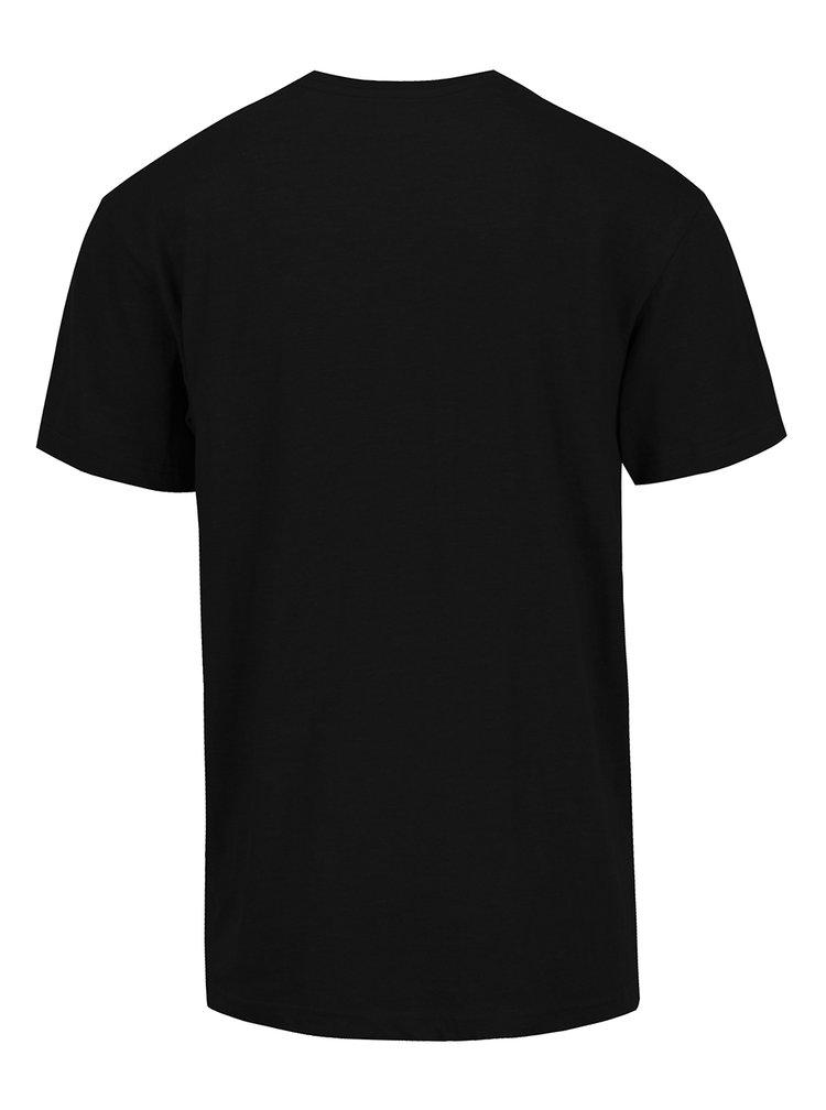 Černé pánské triko s potiskem MEATFLY Bugler