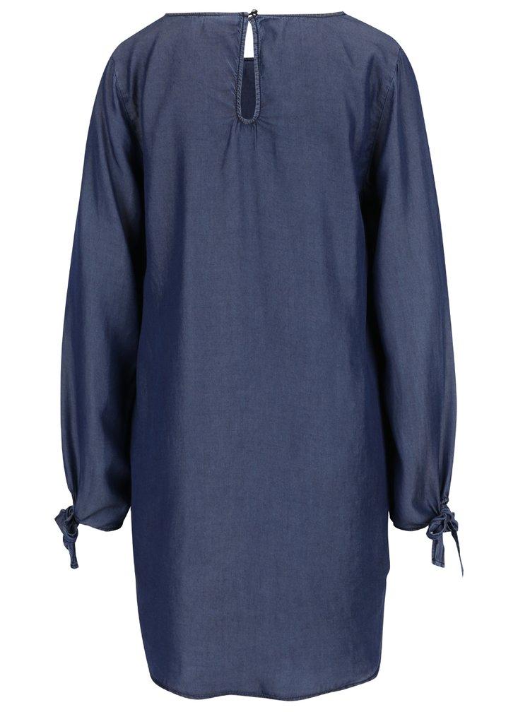 Tmavě modré volné džínové šaty VILA Sinea