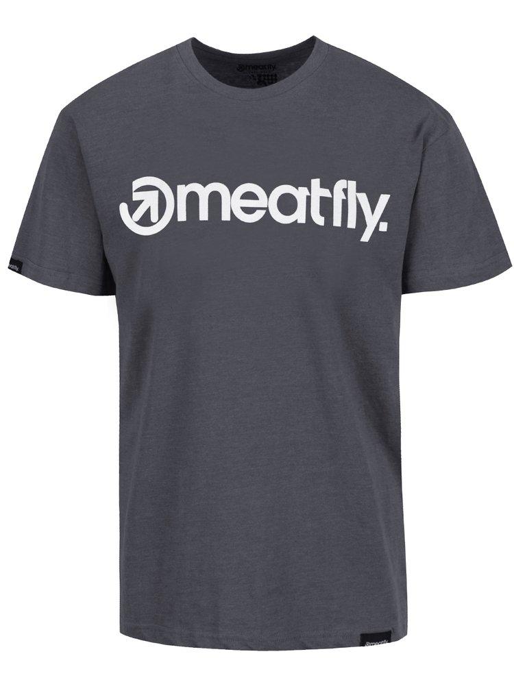 Tricou gri MEATFLY Logo pentru barbati
