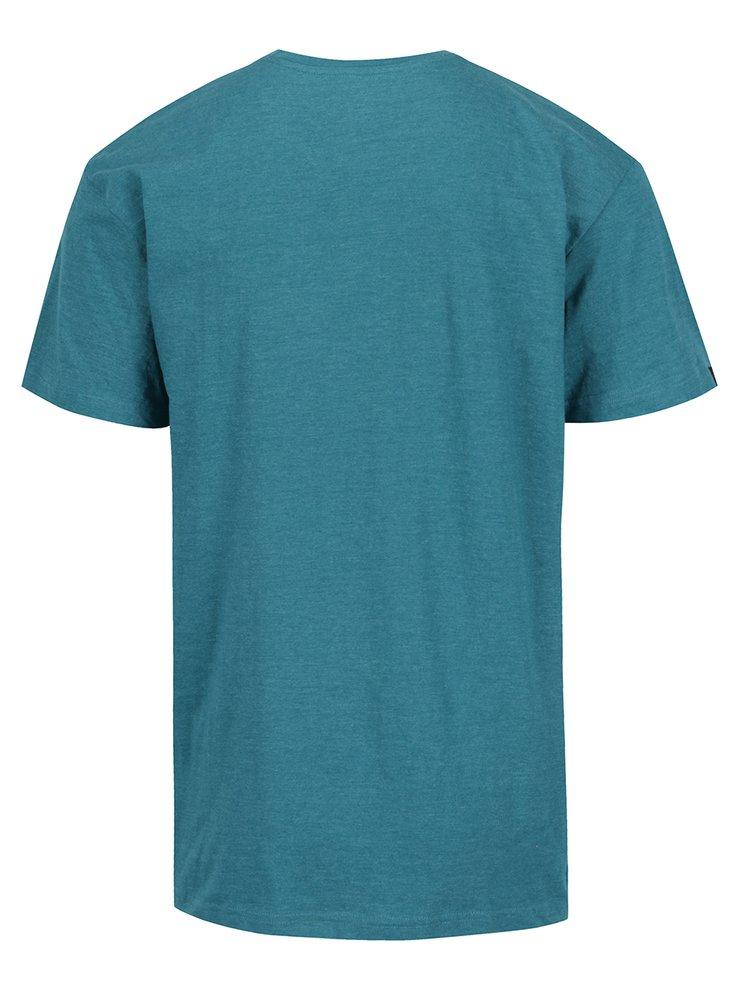 Tricou verde MEATFLY Logo cu logo pentru barbati