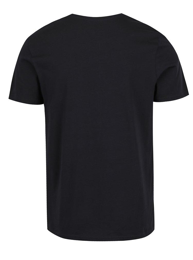 Černé triko s potiskem Nirvana Jack & Jones Nirvana