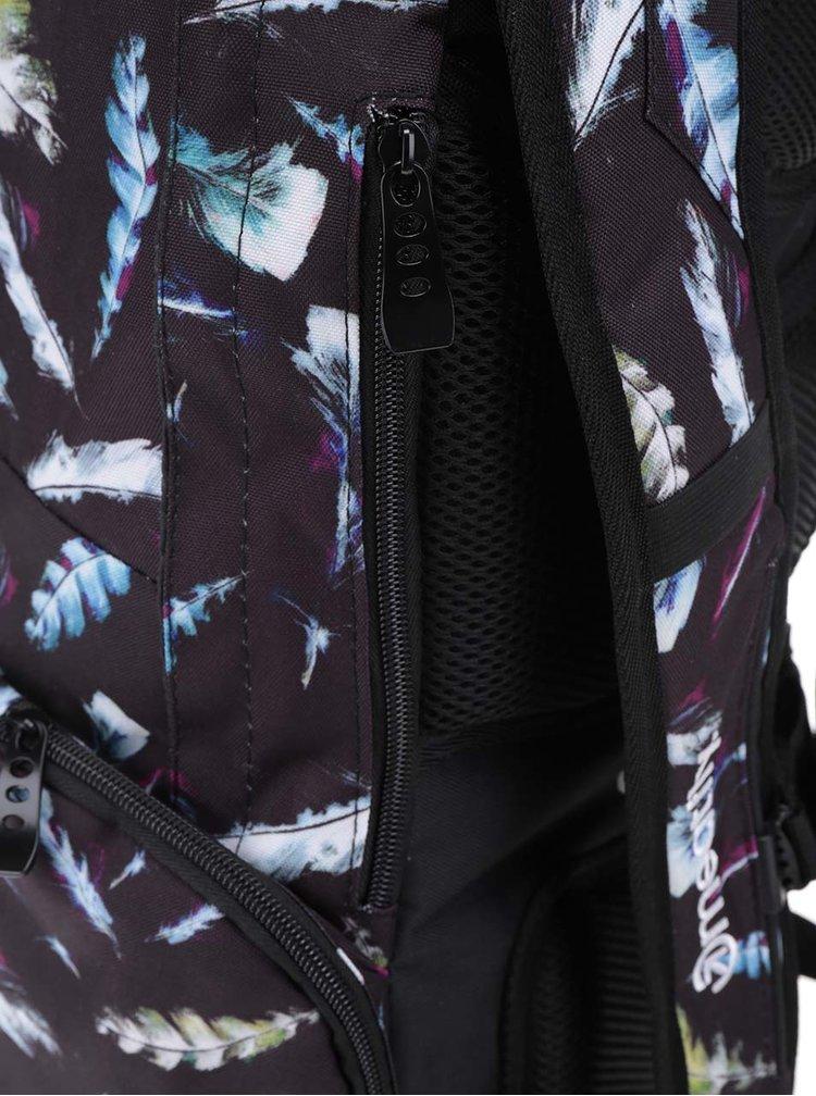 Černý unisex batoh s potiskem pírek Meatfly Basejumper 20 l