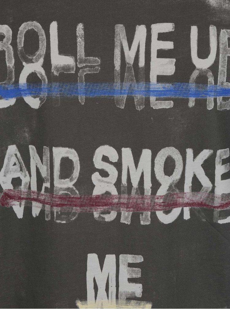 Šedé triko s potiskem Jack & Jones Riot
