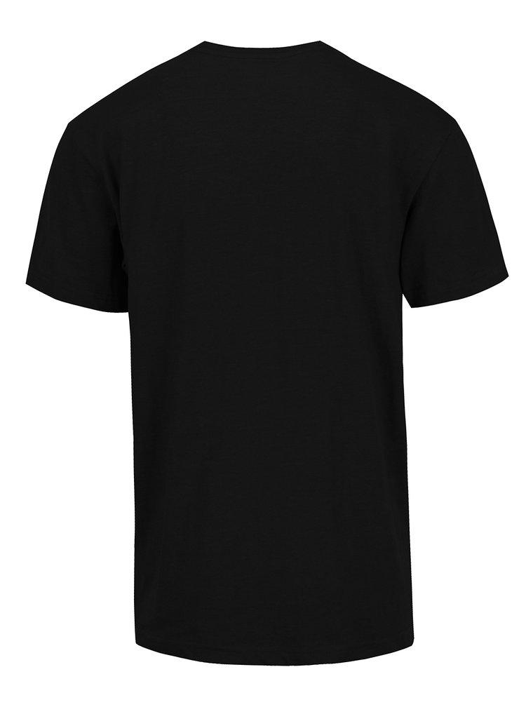Tricou negru cu print MEATFLY Trip pentru barbati